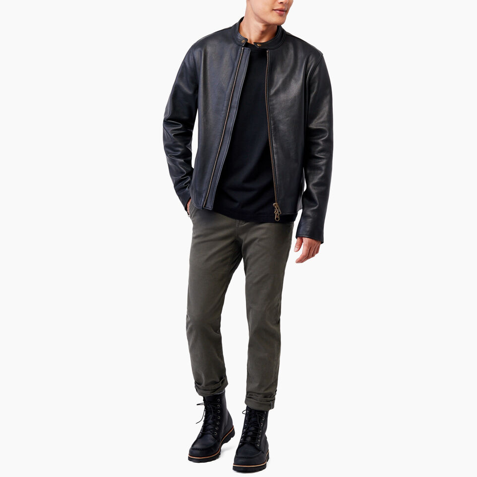 Roots-Leather  Handcrafted By Us Leather Jackets-Keith Jacket Lake-Black-B