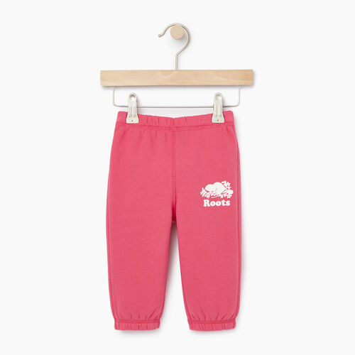 Roots-Kids Our Favourite New Arrivals-Baby Original Roots Sweatpant-Pink Flambã‰-A