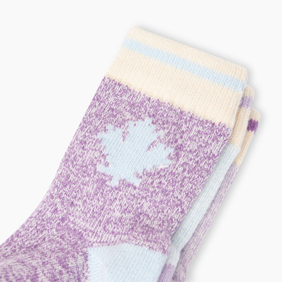 Roots-Kids New Arrivals-Toddler Maple Sock 3 Pack-Purple-D
