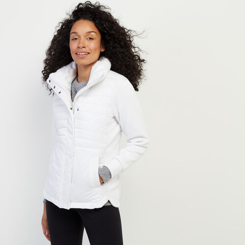 Roots-Women Outerwear-Journey Hybrid Jacket-White-A