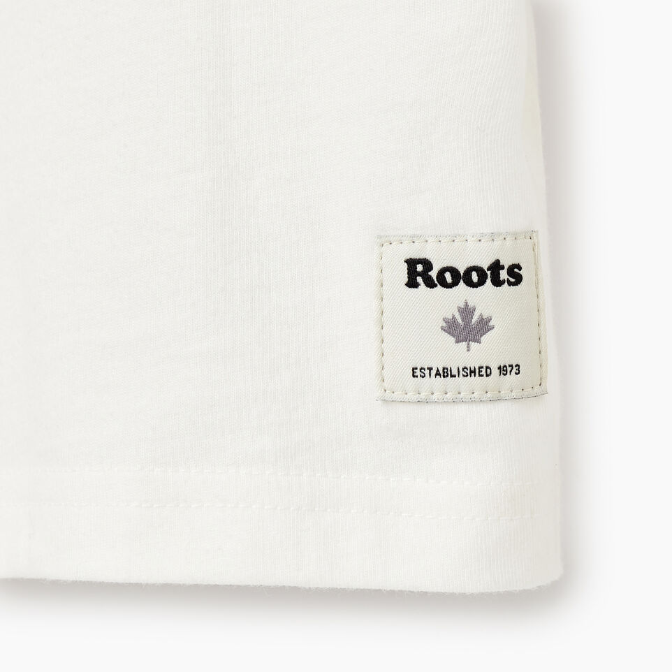 Roots-Kids Our Favourite New Arrivals-Girls Original Cooper Beaver T-shirt-Ivory-C