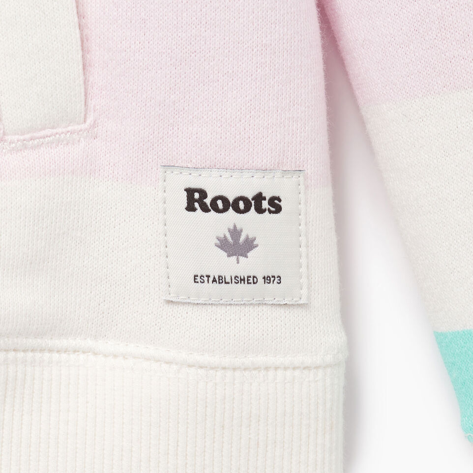 Roots-Clearance Kids-Girls Ombre Stripe Full Zip Hoody-Ivory-C