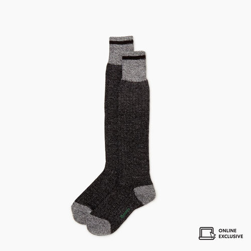 Roots-Gifts Holiday X Arielle & Leah-Womens Roots Cabin Knee Sock-Black Mix-A