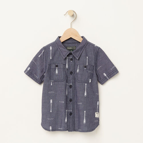 Roots-Kids Toddler Boys-Toddler Chambray Utility Shirt-Denim Mix-A