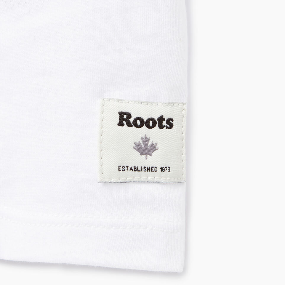 Roots-New For July Daily Offer-Womens Communication T-shirt-Crisp White-C
