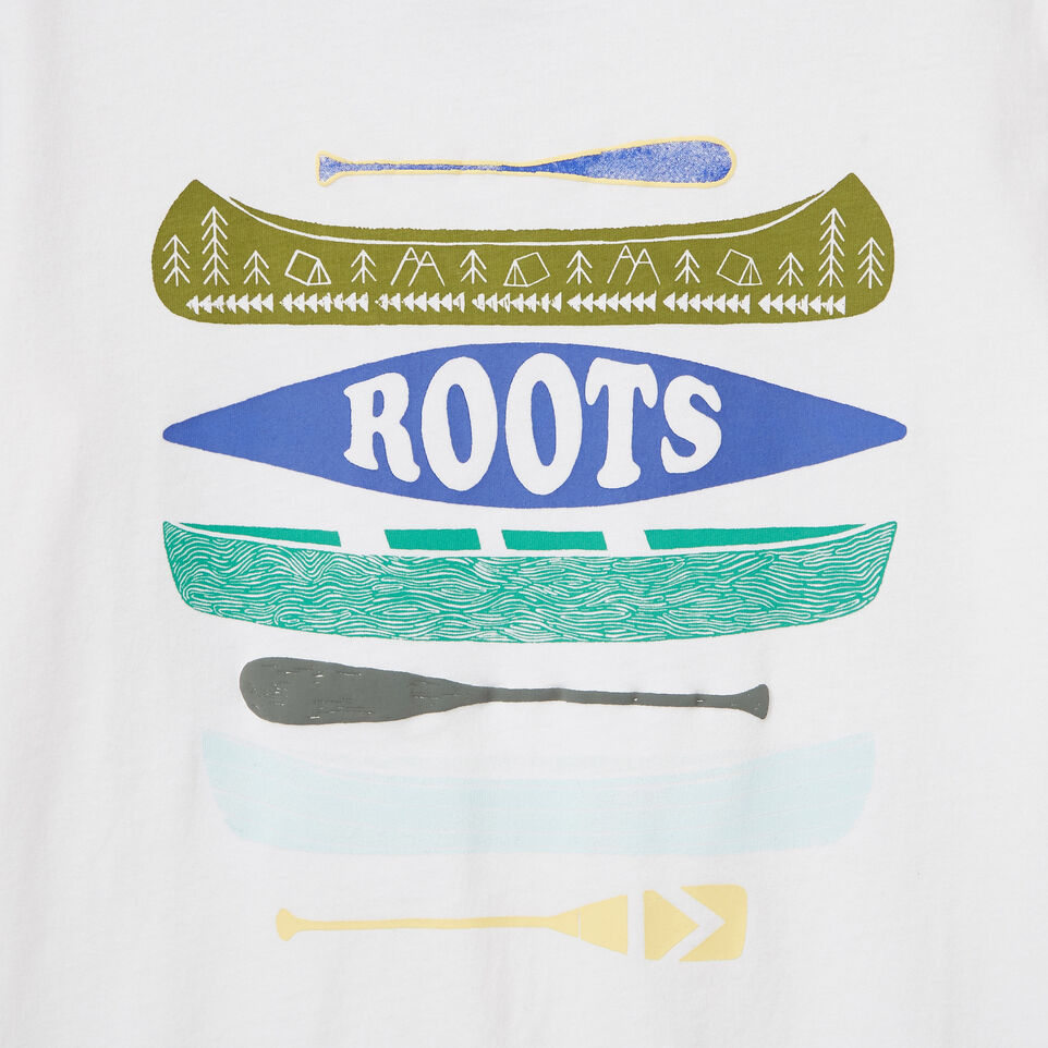 Roots-New For May Kids-Boys Glow In The Dark T-shirt-Ivory-E