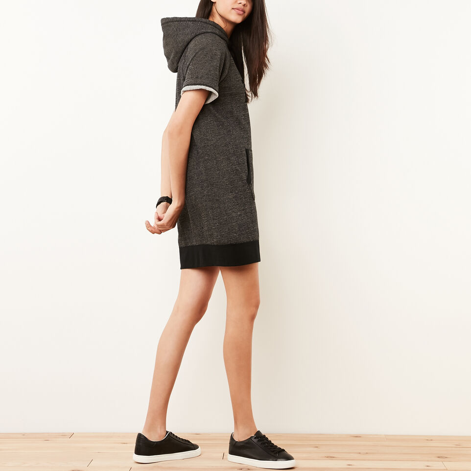 Roots-undefined-Cut Off Hooded Fleece Dress-undefined-B