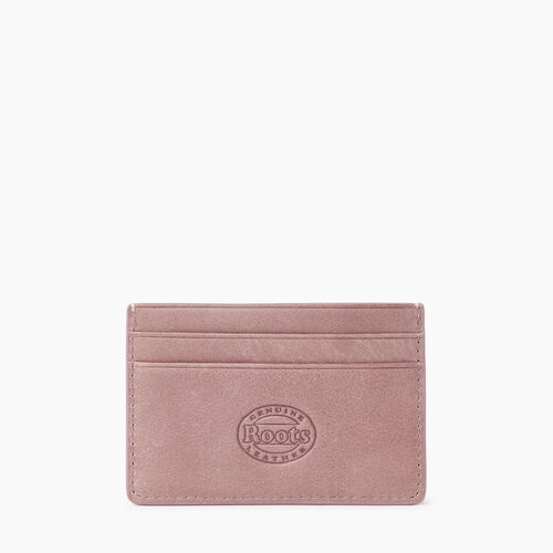 Roots-Leather Leather Accessories-Card Holder Tribe-Woodrose-A
