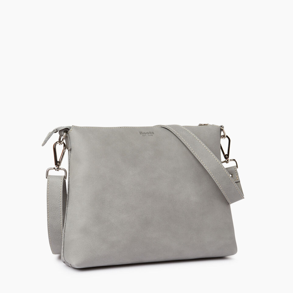 Roots-Leather  Handcrafted By Us Our Favourite New Arrivals-Richmond Crossbody-Quartz-C