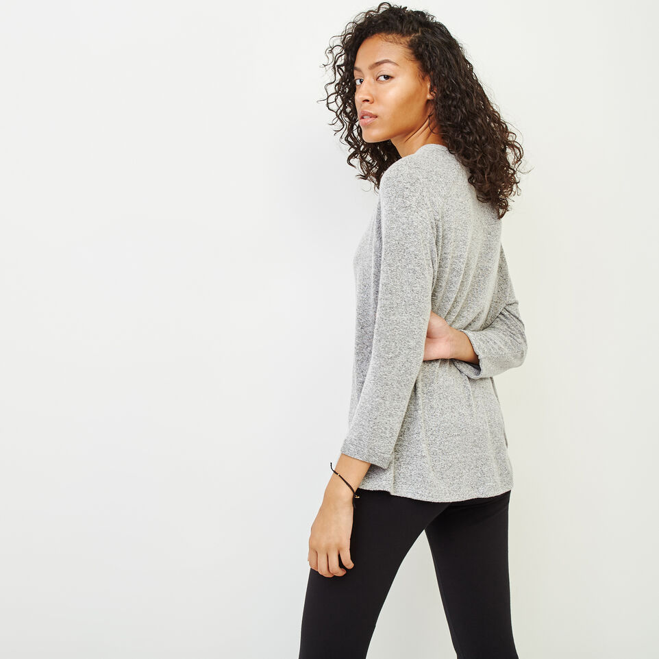 Roots-Women Clothing-Crawford Top-Grey Mix-D