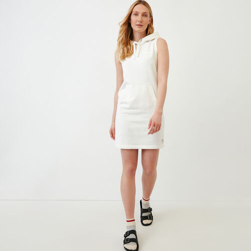Roots-New For June Sweats-Sleeveless Kanga Dress-Ivory-A