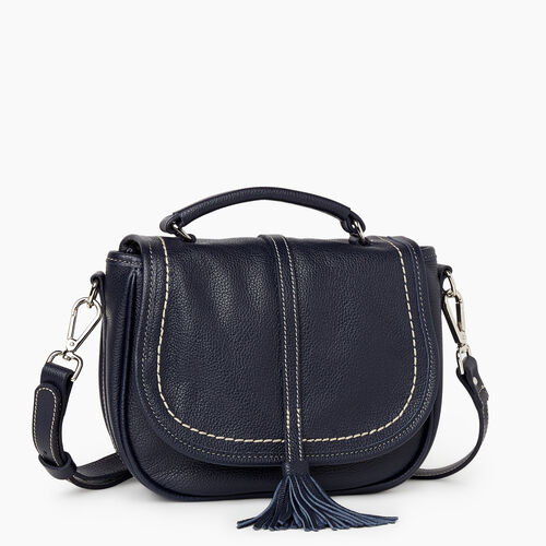 Roots-Leather New Arrivals-Catalina Saddle Bag Cervino-Navy-A