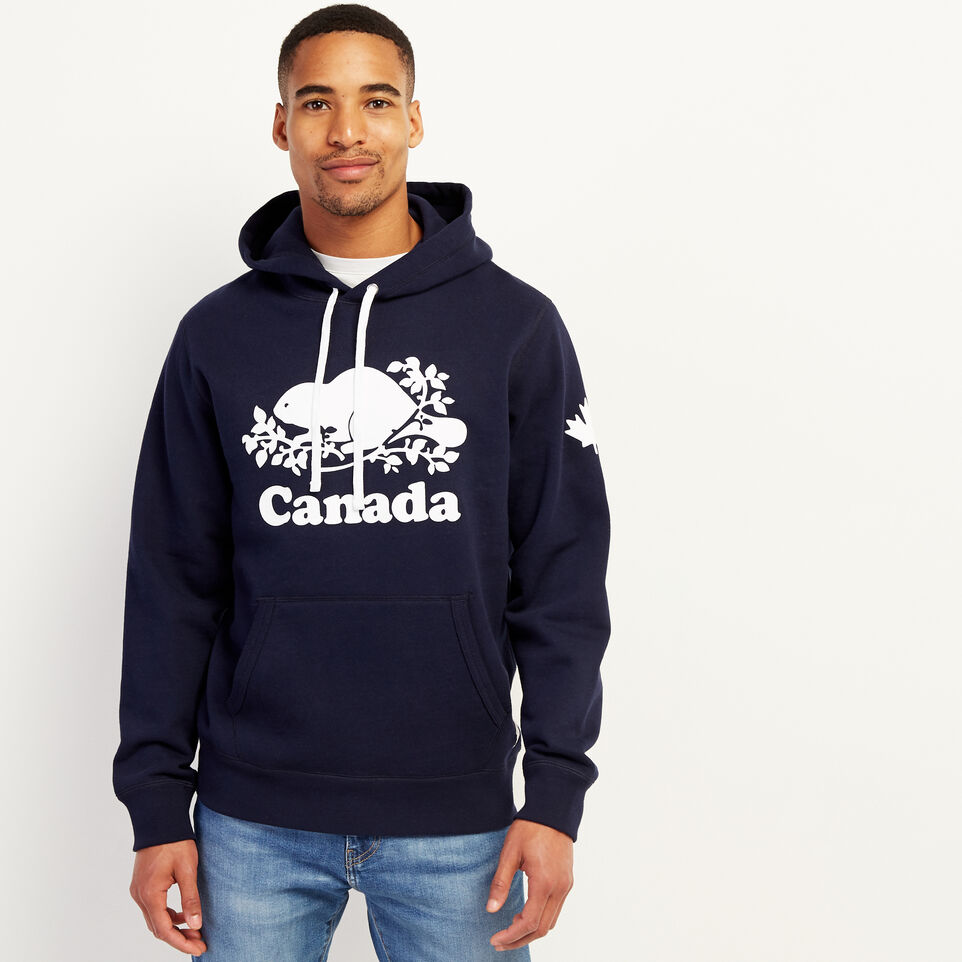 Roots-New For July Men-Mens Cooper Canada Hoody-Navy Blazer-A