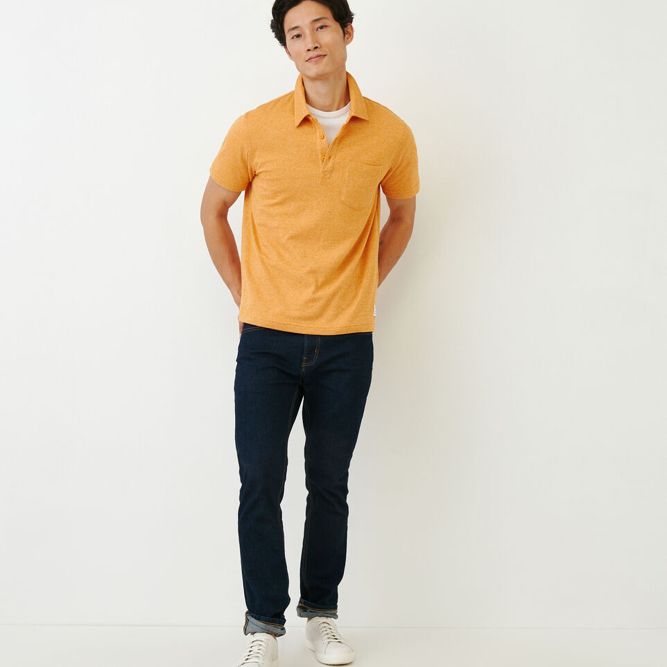 Roots-Men Our Favourite New Arrivals-Jersey Peppered Polo-Squash Yellow Pepper-B