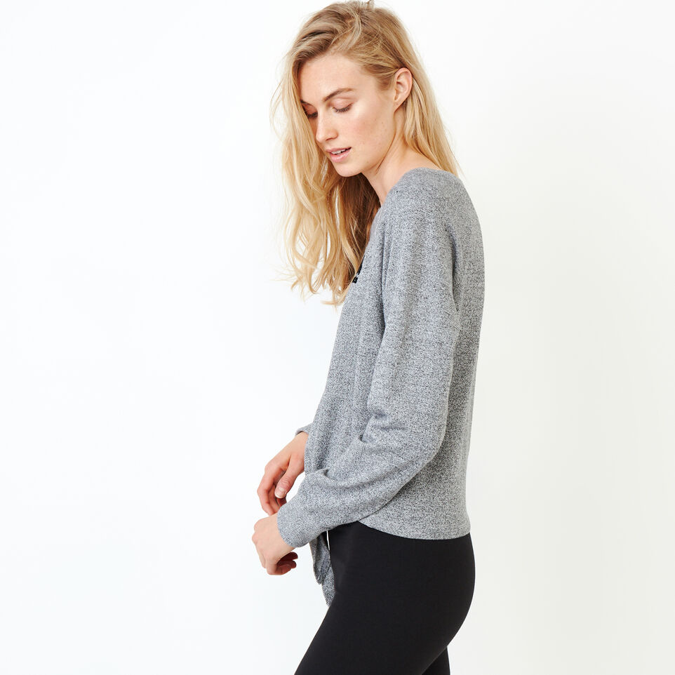Roots-Women Our Favourite New Arrivals-Roots Salt and Pepper Tie Top-Salt & Pepper-C