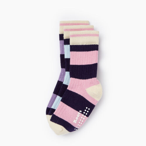 Roots-Kids Our Favourite New Arrivals-Toddler Rugby Sock 3 Pack-Pastel Lavender-A