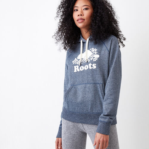 Roots-Women Sweats-Original Kanga Hoody-Navy Blazer Pepper-A