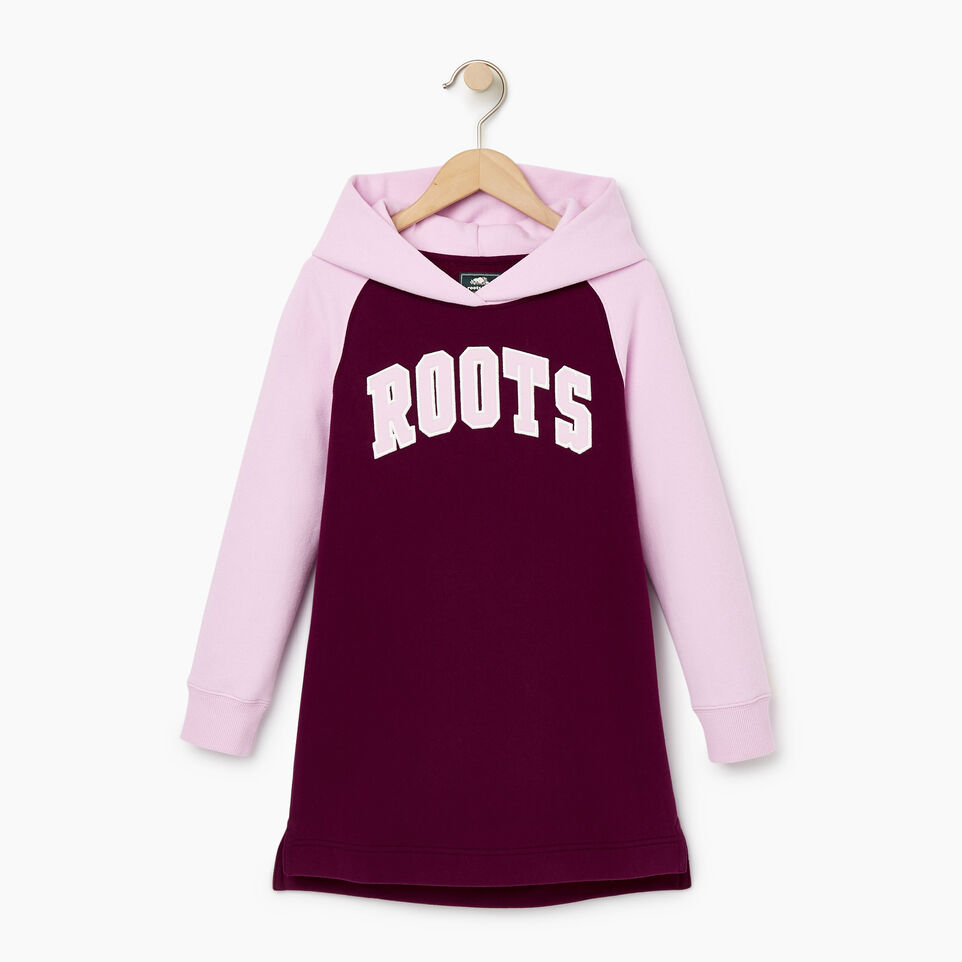 Roots-Kids Our Favourite New Arrivals-Girls 2.0 Hooded Dress-Pickled Beet-A