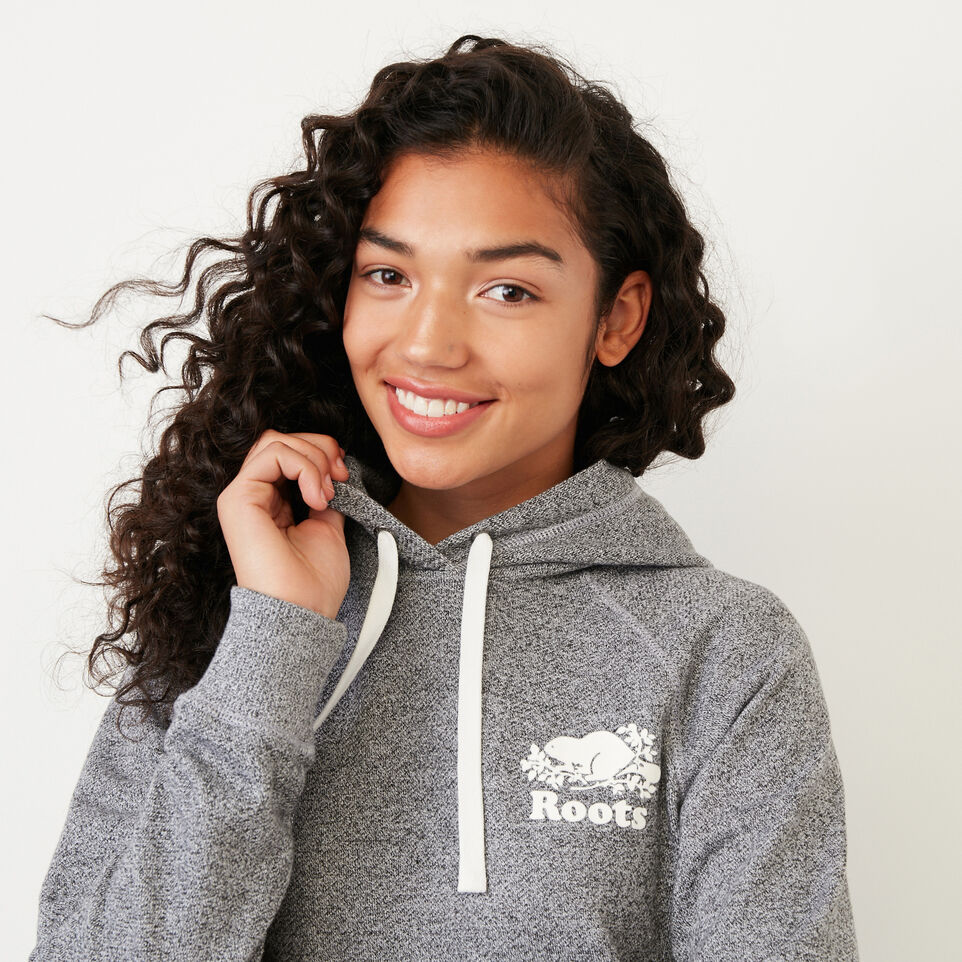 Roots-Women New Arrivals-Roots Salt and Pepper Kanga Hoody-Salt & Pepper-E