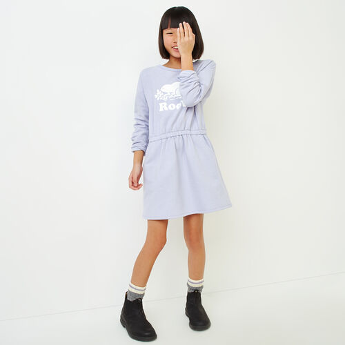 Roots-Kids Girls-Girls Sparkle Cozy Fleece Dress-Cosmic Sky-A