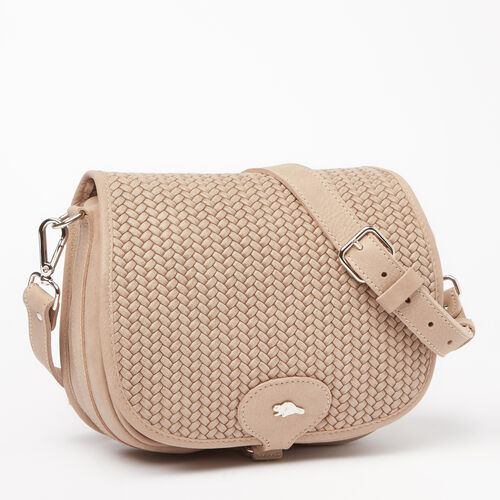 Roots-Sale Leather-English Saddle Woven Tribe-Sand-A