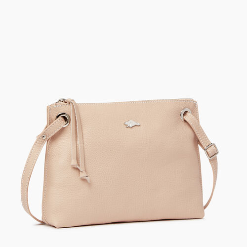 Roots-Leather Crossbody-Edie Bag-Pink Mist-A