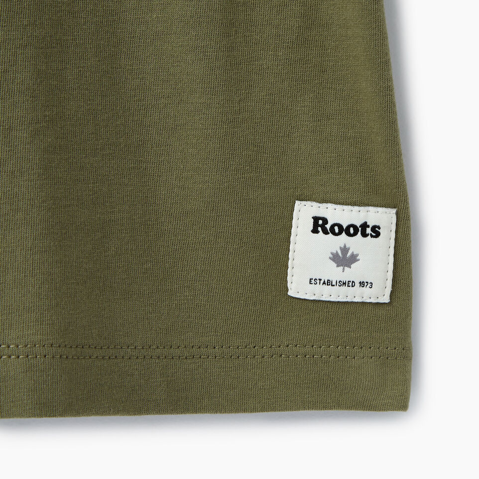 Roots-New For July Daily Offer-Womens Cooper Beaver T-shirt-Lichen-C