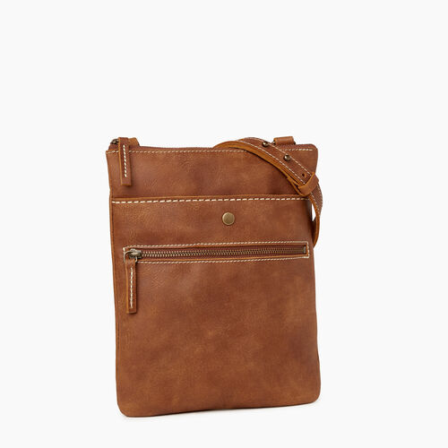 Roots-Leather  Handcrafted By Us Handbags-Rosedale Crossbody-Natural-A
