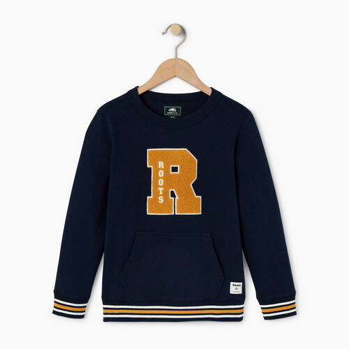 Roots-Kids Categories-Boys Alumni Sweatshirt-Navy Blazer-A
