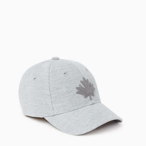Roots-Kids New Arrivals-Kids Leaf Baseball Cap-Grey Mix-A