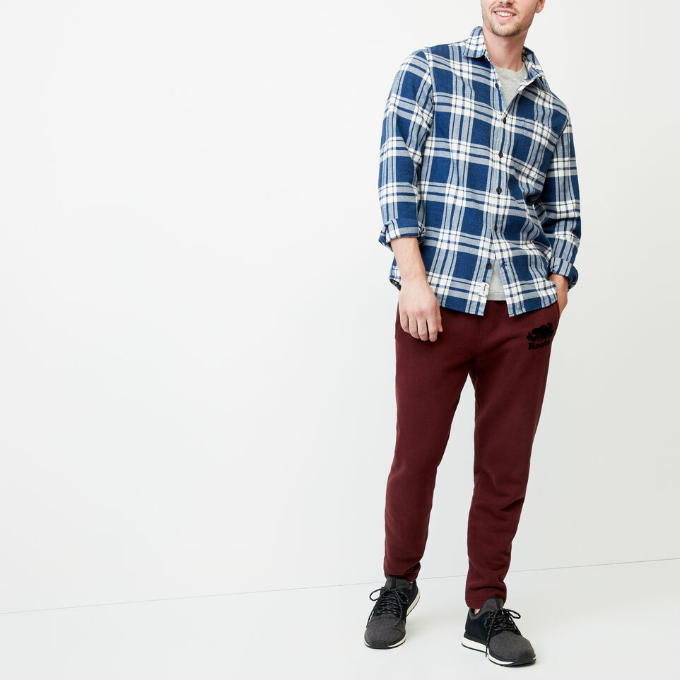 Roots-Men Shirts & Polos-Northlands Flannel Shirt-Active Blue-B