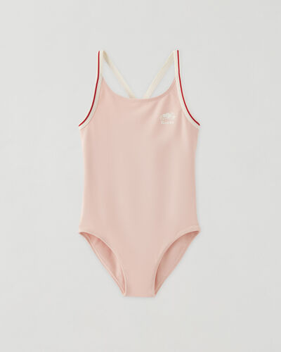 Roots-Kids Toddler Girls-Toddler Cabin Swimsuit-Silver Pink-A