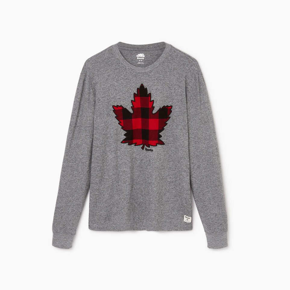 Roots-undefined-Mens Canuck Plaid Pepper Longsleeve-undefined-A