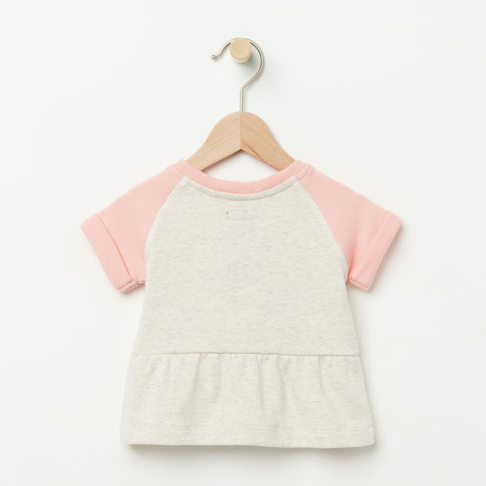 Roots-undefined-Baby Short Sleeve Peplum Crew-undefined-B