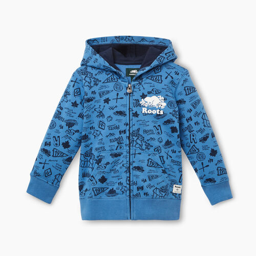Roots-Kids Toddler Boys-Toddler Camp Full Zip Hoody-Federal Blue-A