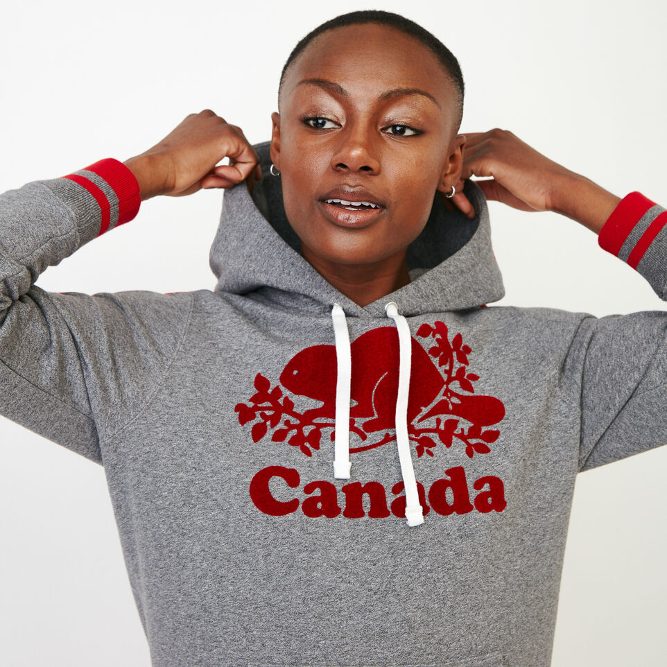 Roots-Women Canada Collection By Roots™-Canada Kanga Hoody-Grey Mix Pepper-D
