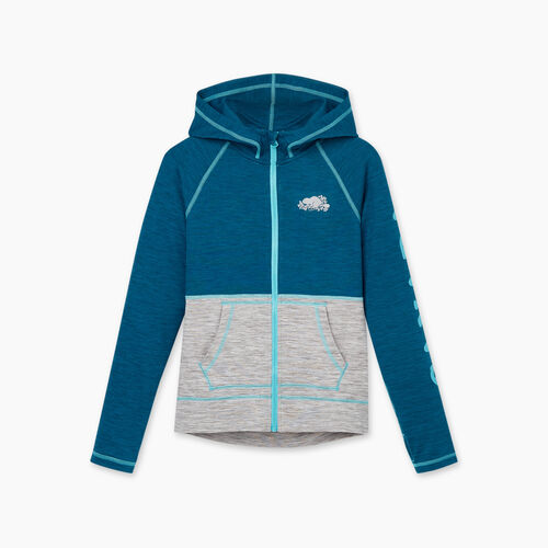 Roots-Kids Girls-Girls Lola Active Full Zip Hoody-Moroccan Blue Mix-A