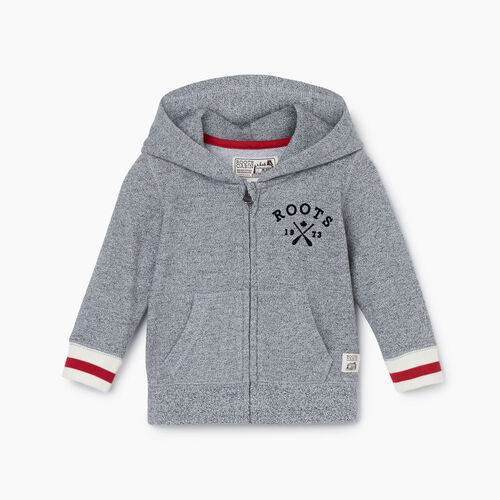 Roots-Kids New Arrivals-Baby Cabin Full Zip Hoody-Light Salt & Pepper-A