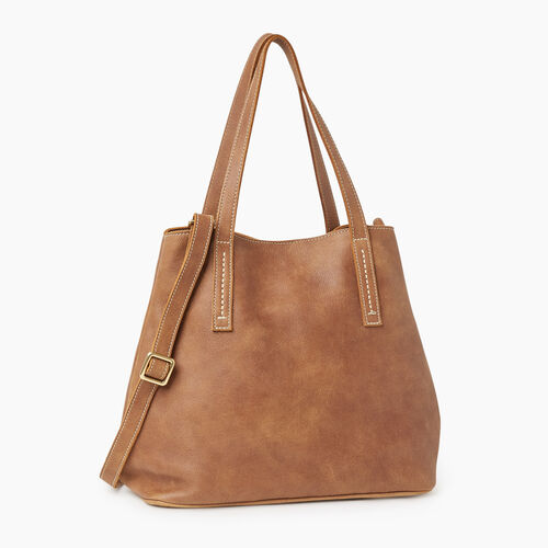 Roots-Leather Totes-Amelia Tote-Natural-A