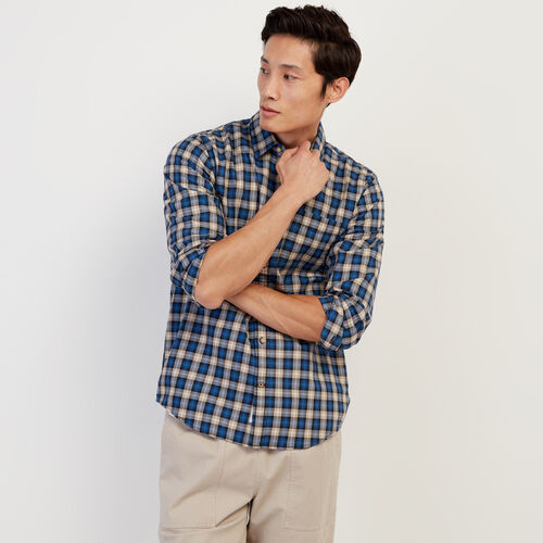 Roots-Sale Tops-Waverely Plaid Shirt-True Navy-A