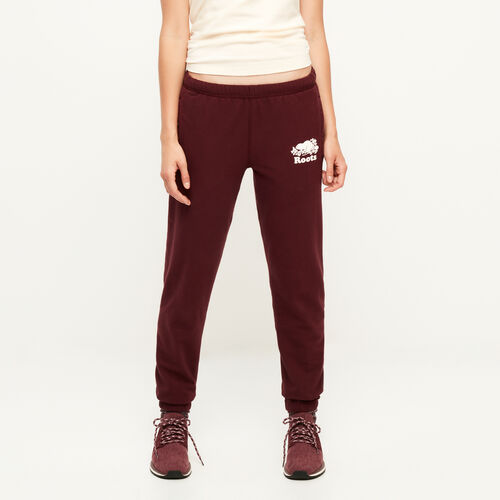 Roots-Women Bottoms-Original Cozy Sweatpant-Northern Red-A