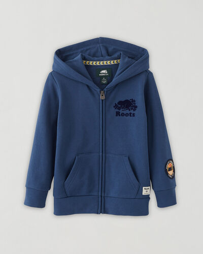 Roots-Sweats Toddler Boys-Toddler Camp Full Zip Hoodie-Dusty Indigo-A