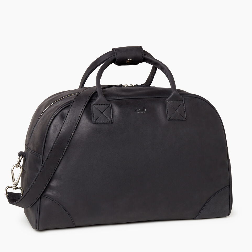 Roots-Leather Our Favourite New Arrivals-Jasper Gym Bag-Jet Black-C