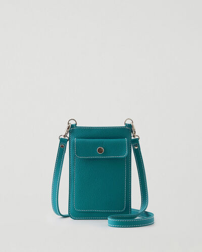 Roots-Leather Tech & Travel-Phone Pouch Cervino-Blue Lagoon-A