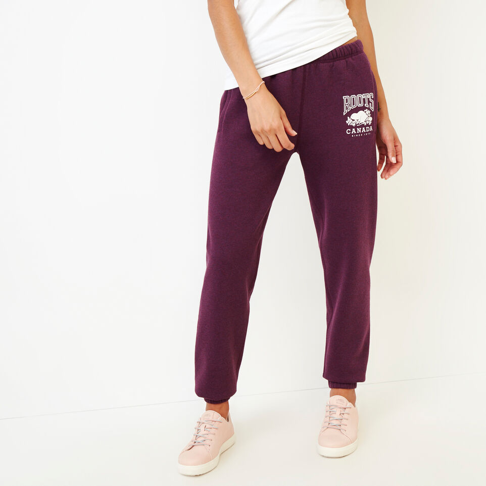 Roots-Women Clothing-Classic Boyfriend Sweatpant-Pickled Beet Mix-A