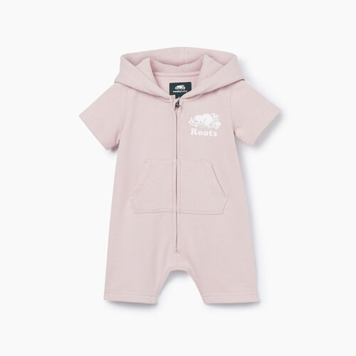 Roots-Kids New Arrivals-Baby Cooper Beaver Kanga Romper-Burnished Lilac-A