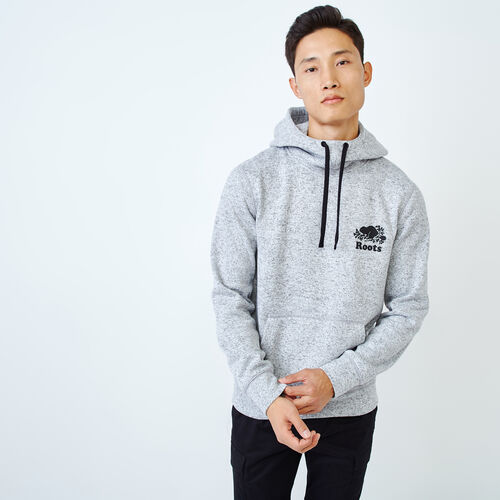 Roots-Men Sweats-Alaska Scuba Hoody-Grey Mix-A