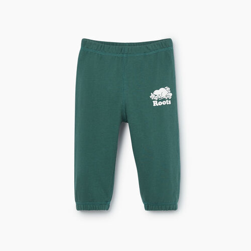 Roots-Sale Baby-Baby Original Sweatpant-Hunter Green-A