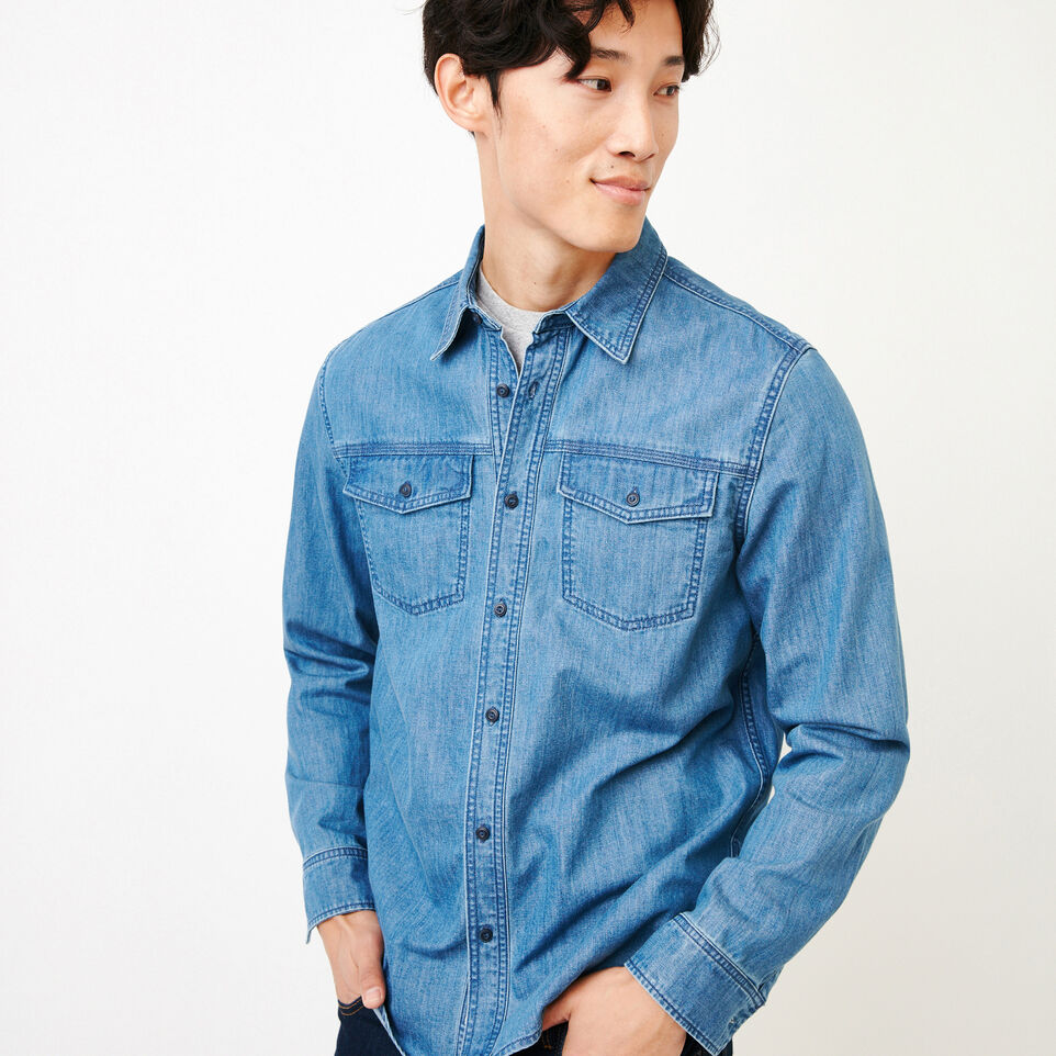 Roots-undefined-Heatley Denim Shirt-undefined-A