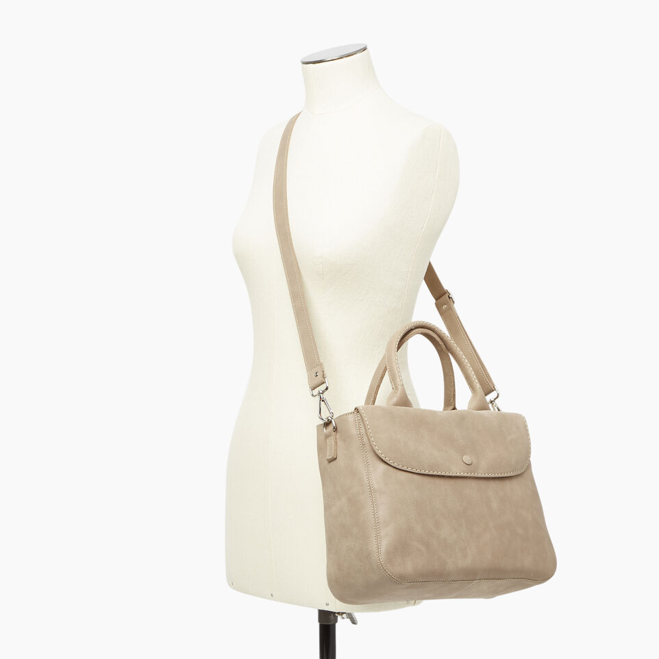 Roots-Leather  Handcrafted By Us Our Favourite New Arrivals-Riverdale Tote-Sand-B